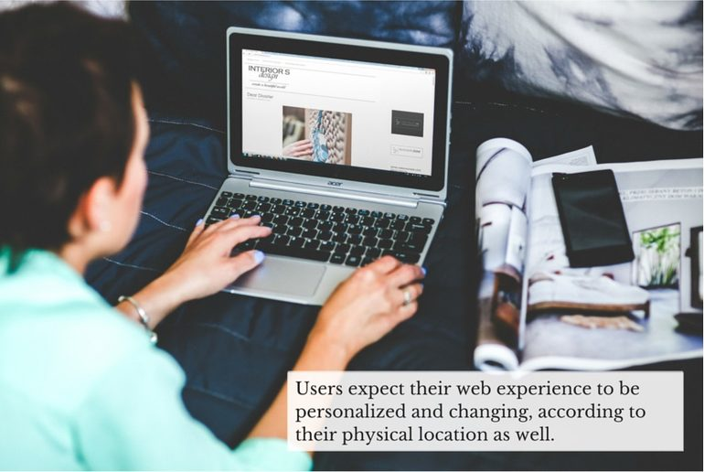 personalized web experience