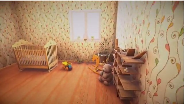 a child's bedroom in Unity 3D interior design