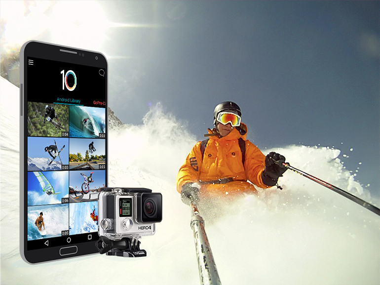 GoPro camera videos with an app